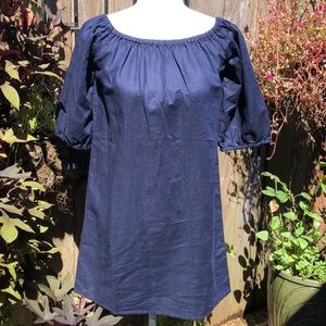 J Crew Navy Peasant style Blouse / Tunic   D117